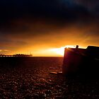 Brighton seafront sunset by dobseh
