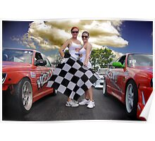 Oh Yes The Checkered Flag Poster