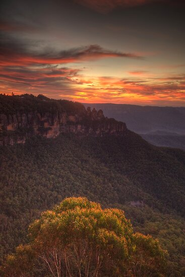 Bush Blessing - Jamison Valley, Blue Mountains World Heritage  Area - The HDR Experience by Philip Johnson