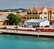On the Pier at Kralendijk, Bonaire by Gerda Grice