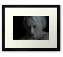 Then she flew away into the night Framed Print