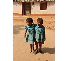 Indian children in Rajasthan Photographic Print
