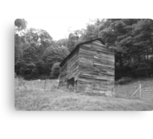 Black and White Barn - Mars Hill, N.C. Canvas Print
