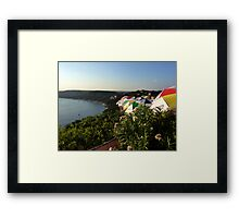 Waiting for the sun to set Framed Print