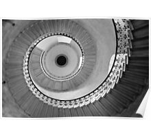 Geometric Staircase - Looking up Poster
