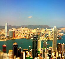 Hong Kong skyline by Cara Gallardo Weil