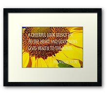 cheerful look sunflower card Framed Print
