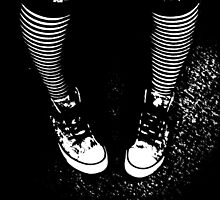 Stripy Socks and Connies  (Converse) by kitty93