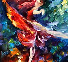 Flame Dance - original oil painting on canvas by Leonid Afremov by Leonid  Afremov