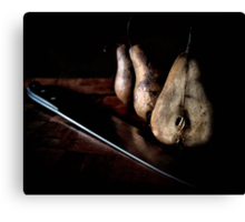 sliced pears Canvas Print