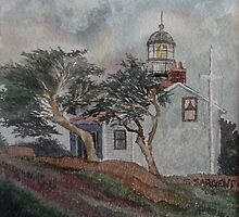 Point Pinos Lighthouse #3 by Sally Sargent