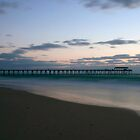 Grange Jetty At Sunset by Nathan Waddell