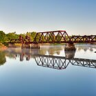 Rusty Railroad Bridge by Joe Jennelle