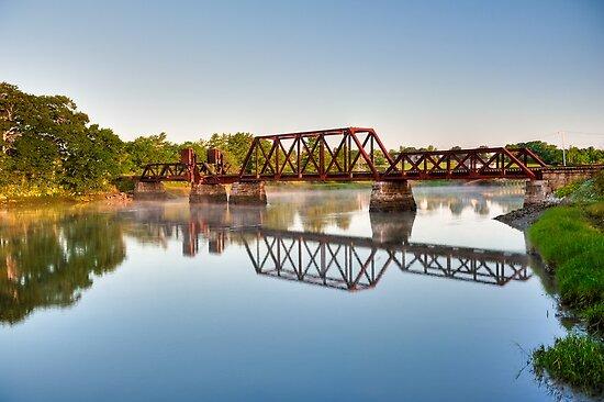 Rusty Railroad Bridge by Joe Jennelle