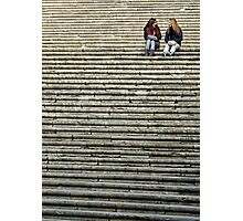 On the steps Photographic Print