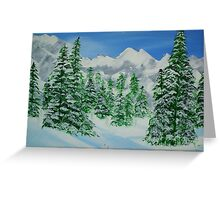 Winter on The Mountains Greeting Card