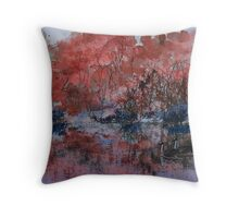 Reflections of Red Throw Pillow