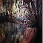 Haunted Woods abstract painting by abstractbYmina