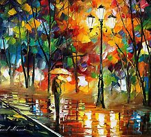 Summer Rain - original oil painting on canvas by Leonid Afremov by Leonid  Afremov