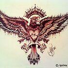 Eagle tattoo by prettygore