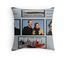 Launch of a lifeboat Throw Pillow