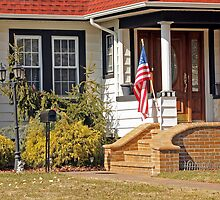 Patriotic little house entrance by henuly1