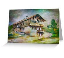 German cottage..... Greeting Card