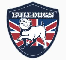 Proud English British Bulldog flag by patrimonio