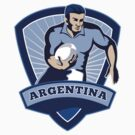 rugby player running with ball argentina by patrimonio