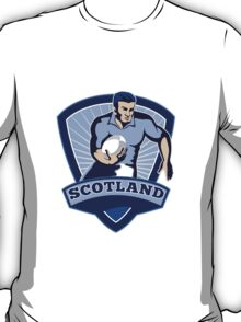 rugby player running with ball scotland T-Shirt