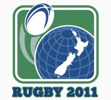 rugby new zealand map ball 2011 by patrimonio