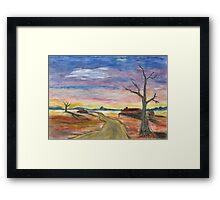 Desert Pastel Framed Print