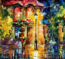 Night Imagination  - original oil painting on canvas by Leonid Afremov by Leonid  Afremov
