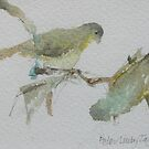 Green Finches by Peter Lusby Taylor