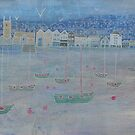 St Ives harbour in winter by Jenny Urquhart