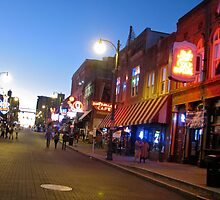 Beale Street, Memphis, Tennessee by Angel LaCanfora