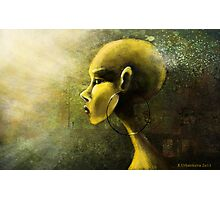 Alien in Yellow -Road of the Dessert Photographic Print