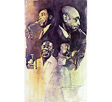 Jazz Legends Parker Gillespie Armstrong  Photographic Print