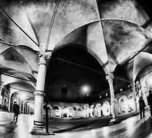 Urban CityScape, Arcades of Bologna Italy by Francesco Malpensi