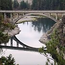 Bridge at Post Falls, Idaho by Kate Farkas