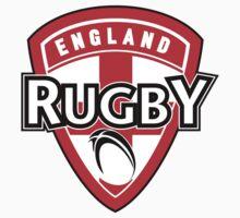 England rugby ball shield flag by patrimonio