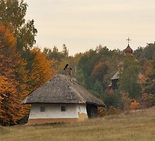 Ukrainian Old Hut by Maryna Gumenyuk
