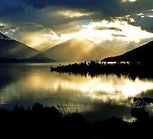 Lake Te Anau at sunset. South Island, New Zealand. (2) by Ralph de Zilva