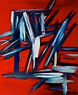 Abstract On Red by Scott Johnson