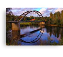 Skymnäs at Klarälven Canvas Print