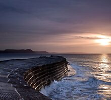 Lyme Regis  The Cobb  First Light by James  Key