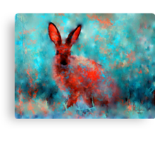 wild rabbit Canvas Print
