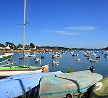 Boats at Larmor Baden by Liz Garnett