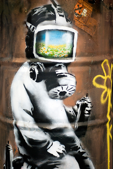 Banksy at HMV by Respire