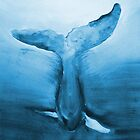 Diving Blue Whale  by webdeblee